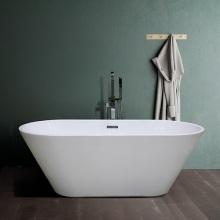 Small Corner Clear Bathroom Freestanding Acrylic Bathtub