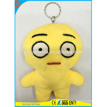 Hot Selling High Quality Novelty Design Figure Pillow Keychain with Cute Expression