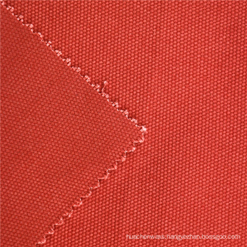Online Shop China For Sales Cotton Plain Dyed brick red 350GSM Canvas Fabric