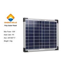 10W Tamanho Pequeno e Potência PV Módulo de Painel Solar de Silício Policristalino / Painel Solar Poli