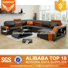 design moderno novo levou italiano couro sofá sala de estar conjunto de sofá