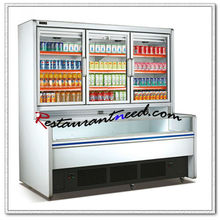 R285 2 Layers Freezing Open Showcase With Beverage Display