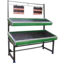 Vente chaude deux fruits de niveau support stand légumes hiérarchisé de la grille fruits niveau