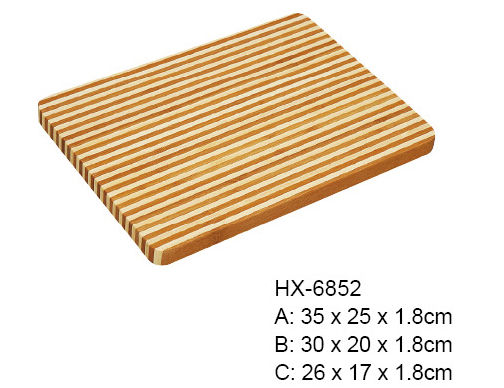 HONEY STRIPE BAMBOO CHOPPING BLOCK