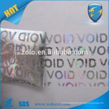 Gewohnheit drucken Hologramm-Sicherheits-Void-Aufkleber