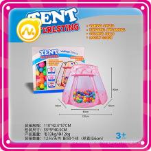 Juguetes al aire libre Kids Play Tents Circus King con tienda de bolas 60PCS