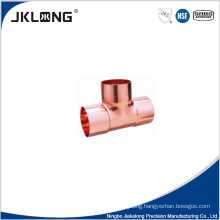 J9009 forged copper equal tee copper pipe light fitting