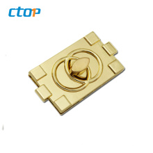Wholesale fashion metal bag lock hardware and custom high quality twist lock handbag lock