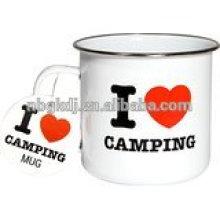 Mim caneca de acampamento do coração Mim caneca de acampamento do coração