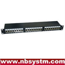 "24 portas STP Cat6 Patch Panel 19 ""1U, Krone IDC"