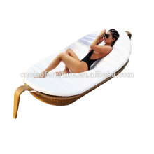 Rattan sun lounger for outdoor maple leaf