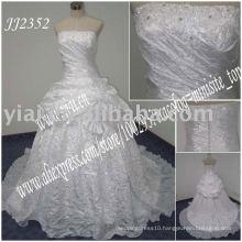 2016 latest elegant drop shippiong freight free ball gown style taffeta strapless wedding dress JJ2352