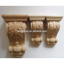 Steam beech hand carved wood corbels China wood carving
