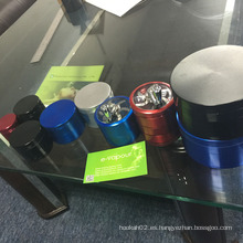 Nueva amoladora de aleación de metal 4layers Herb Handle Grinder Smoke Herb Grinder