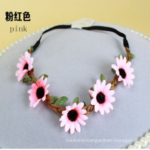 5X Sunflower Chain Garland Head Band (HEAD-352)