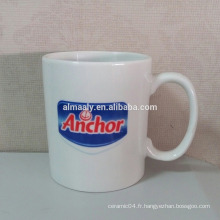 Logo personnalisé en tasse en céramique de 11 oz