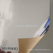 Folha de alumínio dobro do lado, material reflexivo e de prata da telhadura Folha de alumínio face Lamination