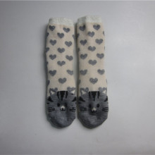 Cute Cat Jacquard piso calcetines