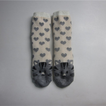 Cute Cat Jacquard Floor Socks