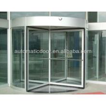 Porte tournante automatique à 4 vantaux