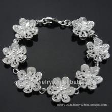 Alibaba bijoux fantaisie en gros bracelet en argent 2013 BSS-021
