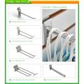 Tienda de gancho para clavijas de metal con doble alambre usado