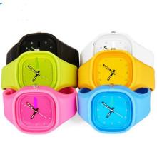 Yxl-989 Новый женский женский кварцевые наручные часы, классический гель Candy силиконовые желе часы