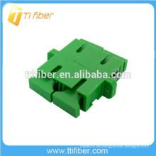 Adaptador de fibra óptica duplex SC / APC