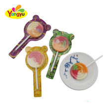 Halal candy mixed flavors flat round lollipop candy
