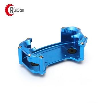 anteparo dianteiro de alumínio de trituração anodizado azul do cnc para competir