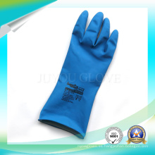 Guantes impermeables del látex del trabajo antiácido con la alta calidad para trabajar