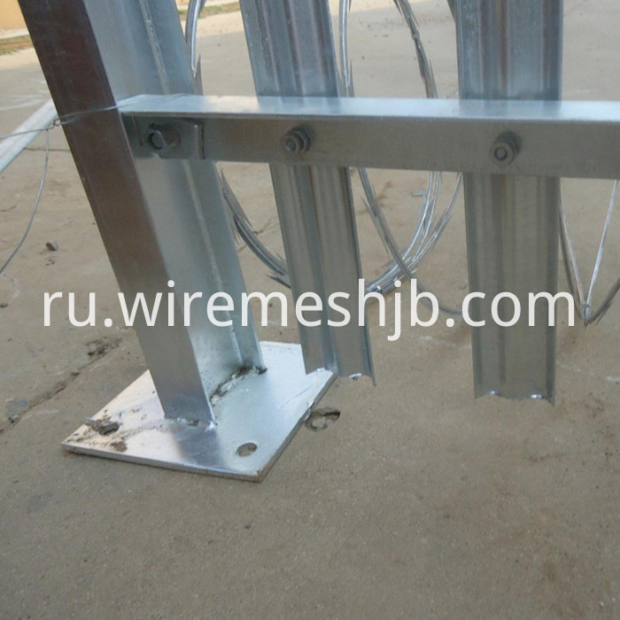 Galvanized Security Palisade Fence