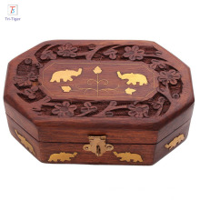 Handmade Wooden Jewelry Storage Organizer Jewelry Box with Traditional Design