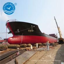 Airbag inflable marino usado para el levantamiento de salvamento hundido de la nave