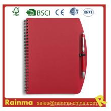 Red PVC Cover Notebook für Schule und Office Supply
