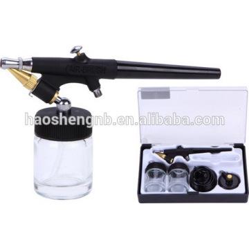 HS-38 Precisão de ação dupla Airbrush Air Spray Kit Compressor Set Craft Cake Art Paint