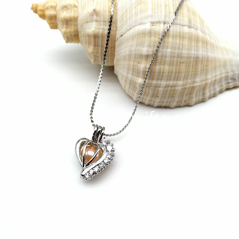 New Design Women Heart Cage Pendant