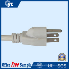 Nós cabo de alimentação AC padrão de 3 pinos 18AWG