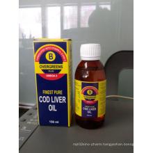 Overgreens Plus Omega3, Finest Pure Cod Liver Oil Emulsion, Omega3