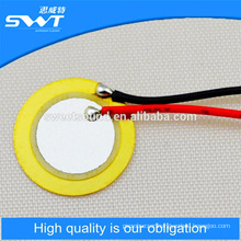 14mm 10khz Factory of disk shap piezo ceramic elements with solder wire