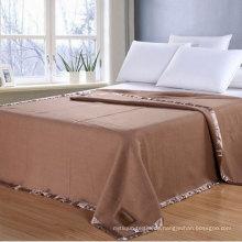 100% Baumwolle Großhandel Fabrik Preis Decke in Plain