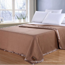 100%хлопок Оптовая цена фабрики одеяло в обычный
