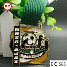 Precio de fábrica llenado en color Souvenir Youth Soccer Medal