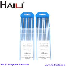 Eletrodo de solda de tungstênio WC20 Eletrodo de tungstênio de cério