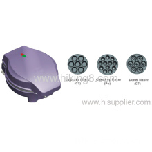 3 In 1 Griller With Detachable Plates For Cake Pop &cup Cake & Donut 850w