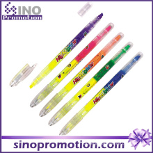 Transparent Plastic Marker Pen Double Headed Marker Pen Highlighter