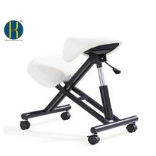 HY5001-1 Quadro de madeira / metal para cadeira de sela ajoelhado ergonômico escritório / altura ajustável / assento de sela