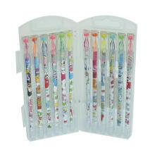 Ensemble stylo à encre gel à pointe de diamant 12 PCS / Box, stylo encre gel surligneur