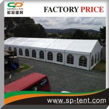 Открытый свадебный тент 15x30м на 300 мест с выдвижным размером
