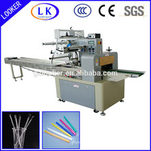 automatic horizontal flow wrap machine for straw packing